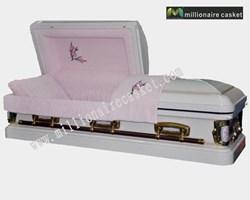 Metal casket: Victorian carnation