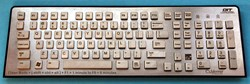 Copper keyboard for infection control