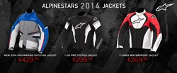 2014 Alpinestars Jackets Available at Motochanic.com