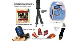 The Banjos Direct accessories package