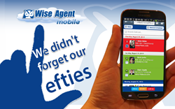 Wise Agent App has settings just for lefties
