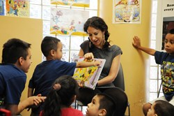 Celebrating reading with children in Brooklyn