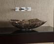 MAVE158RDE - Rectangular Stone Vessel - Dark Emperador Marble - Xylem