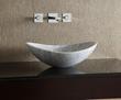 MAVE158OWT - Oval Stone Vessel - White Carrara Marble - Xylem