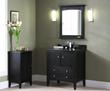 """V-KENT-30DK - KENT Bathroom Vanity - 30"""" Brown Ebony - Xylem"""