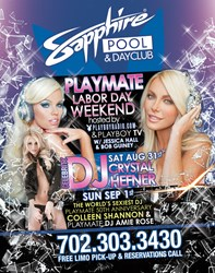 """Labor Day""""Playmate"""" Weekend ay Sapphire Pool & Day Club"""