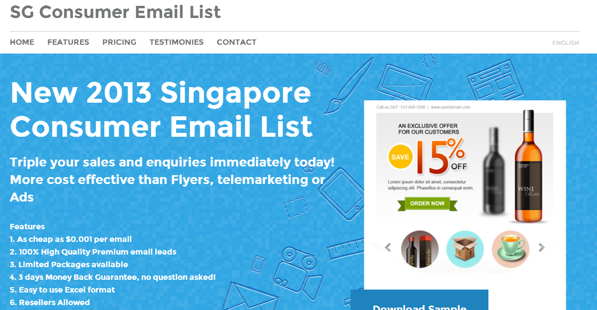 Singapore's SG Consumer Email List com Pleased to Announce