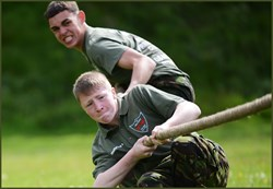 The programme develops core values such as determination.