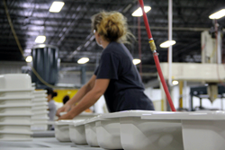 The new Plastics Division facility produces CSA-certified Better Bath® product line of bathtubs, shower receptors, tub and shower wall surrounds and kitchen sinks.wheel-well liners, storage boxes, panels for fifth-wheel fronts and slide-out pa