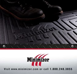 Minimizer is the first heavy0duty trucking floor mat I