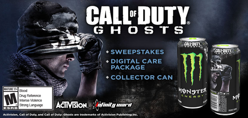 monster energy and activision team up for call of duty