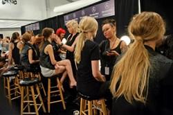 Cutler Salon Prepares Models Backstage at Mercedes-Benz Fashion Week