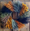 preserved flowers, preserved wreath, autumn wreath, fall wreath, dried flowers, dried wreath, dried wreath dallas