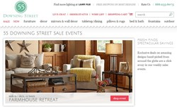 Expanded 55DowningStreet.com Home Page Offers Sale Events and Category Shopping