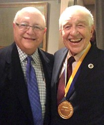 UC President Mark Yudoff and Claremont Graduate University's Jack Scott