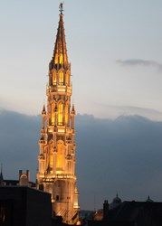 The landmark Town Hall building towers over Brussels, where SPIE Photonics Europe will return in April 2014.