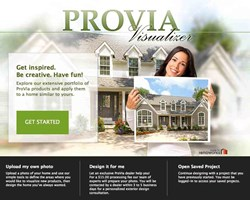 Entry doors, replacement windows, vinyl siding and manufactured stone.can be viewed on ProVia's Visualizer