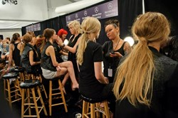 Cutler Salon Prepares Models Backstage at Mercedes-Benz Fashion Week