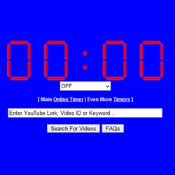 The Video Timer from OnlineClock.net