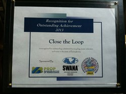 Close the Loop Receives Waste Watcher Award