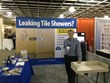 Donald Dominick, VP of National Accounts has the booth all set up and ready for attendees