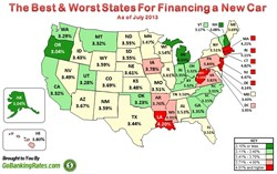 10 Worst States for Financing a New Car