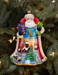 Christopher Radko Limited Edition Midnight Sky Santa Christmas Ornament