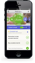 Shady Grove Fertility Partners with Glow - Screenshot of App