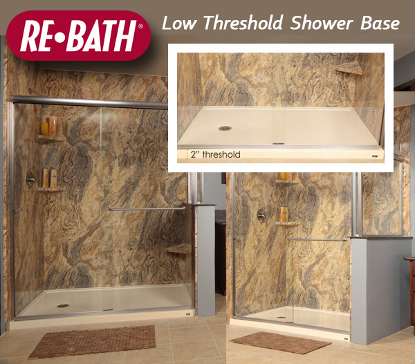 Re Bath 174 Introduces Low Threshold Shower Base