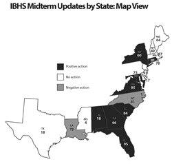 Rating the States Midterm Update Map