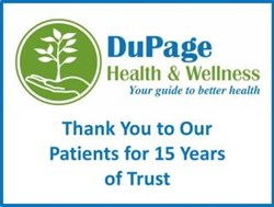 Glen Ellyn, IL and Chicago, IL Allergists, Chiropractors, Massage Therapists, DuPage Health and Wellness 15-Year Anniversary