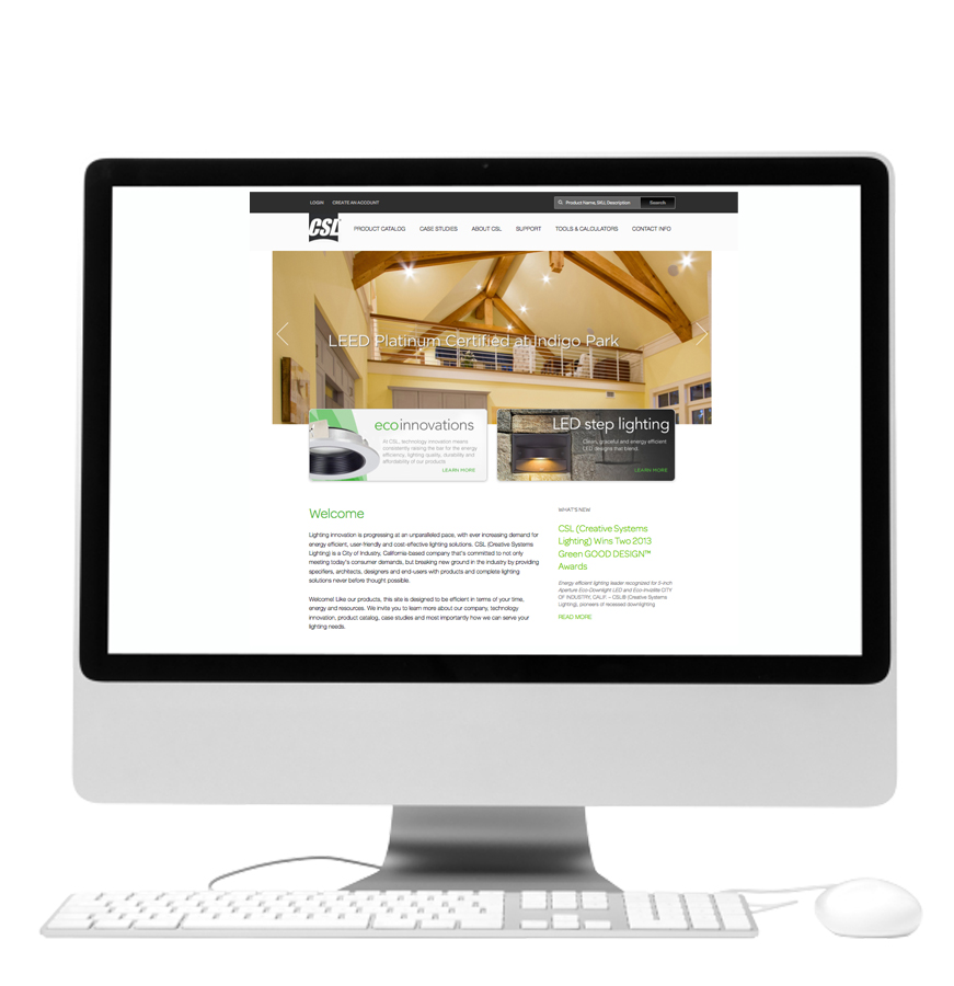 CSL® (Creative Systems Lighting) Debuts Redesigned Website For LED And  Other Architectural Lighting Products