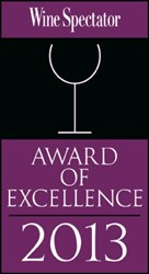 Wine Spectatory Award of Excellence