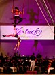 Aerial acrobats Duo Rose performed at Cirque Devou in 2010