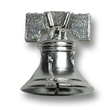 Liberty Bell Sterling Silver Charm for Charm Bracelets