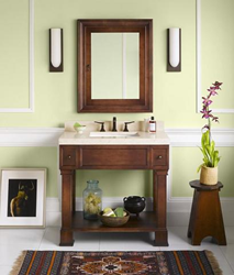 Ronbow 063936 Palermo 36 Wood Vanity Cabinet With Bottom Shelf And Two Drawers