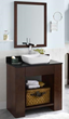 """RonBow 031431 Zenia 31"""" Wood Vanity Cabinet with Bottom Shelf and Accessory Drawer"""