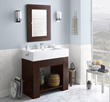 """RonBow 031436 Zenia 36"""" Wood Vanity Cabinet with Bottom Shelf and Accessory Drawer"""