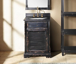 "James Martin Solid Wood 23.75"" Astrid Antique Black Single Bathroom Vanity 238-101-5131"