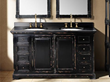 "James Martin Solid Wood 59.25"" Genna Antique Black Double Bathroom Vanity 238-103-5631"