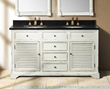 "James Martin Solid Wood 59.25"" Astrid Antique White Double Bathroom Vanity 238-101-5641"