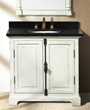 "James Martin Solid Wood 35.5"" Genna Antique White Single Bathroom Vanity 238-103-5241"