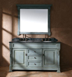 "James Martin Solid Wood 60"" Bosco Ancient Blue Double Vanity 147-114-5651"