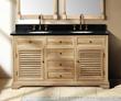 "James Martin Solid Wood 59.25""Astrid Natural Oak Double Bathroom Vanity 238-101-5621"