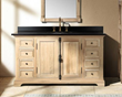 "James Martin Solid Wood 56"" Genna Natural Oak Single Bathroom Vanity 238-103-5321"