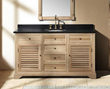 "James Martin Solid Wood 59.25"" Astrid Natural Oak Single Bathroom Vanity 238-101-5321"