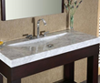 "SVT480WT - 48"" Stone Bathroom Vanity Top with Integrated Bowl - White Carrara Marble - Xylem"