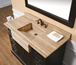 "James Martin Solid Wood 48"" Malana Bathroom Vanity w/ Travertine Top 206-001-5177"