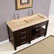 "silkroad exclusive Double 60"" Bathroom Vanity, hyp-0229-60"