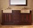 "James Martin Solid Wood 72"" Double vanity with a Countertop 206-001-5525"